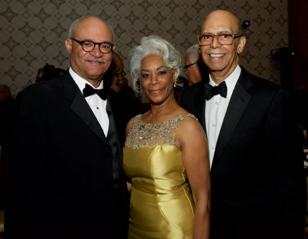 (L to R) UNCF honoree Carl Ballton, retired President of Union Bank Foundation, Helen Easterling Williams, EdD, Dean and Professor of Education at Pepperdine University and Michael L. Lomax, UNCF President and CEO